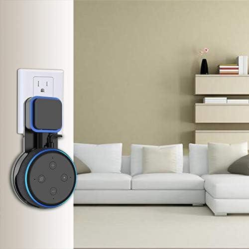 SPORTLINK Soporte para Dot (3.ª generación), Gestión de Cables incorporada, sin Tornillos en Las cocinas, baño y Dormitorio (Negro) 9