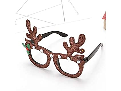 Amazon yiyane happy antler christmas ornaments glasses frames