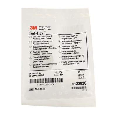 3M 2382C Sof-Lex Extra-Thin Contouring and Polishing Pop-On Disc Refill, Coarse Grit, 1/2
