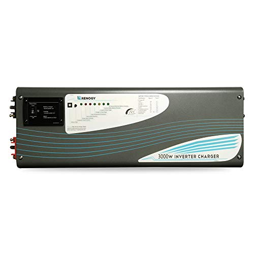 - Renogy 3000W 12V Pure Sine Wave Inverter Charger DC AC Battery Power Converter, black
