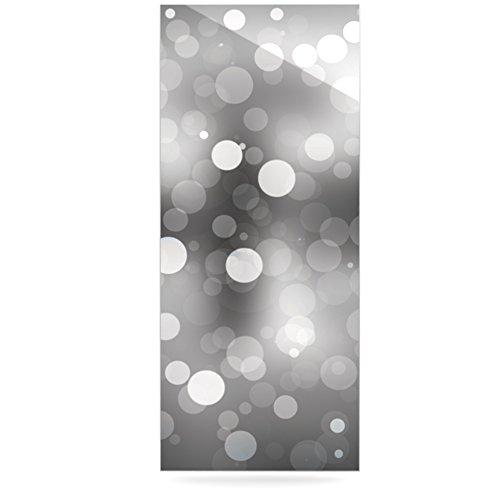 24 x 36 Kess InHouse Kess Original Spectral Gray Bokeh Luxe Rectangle Panel
