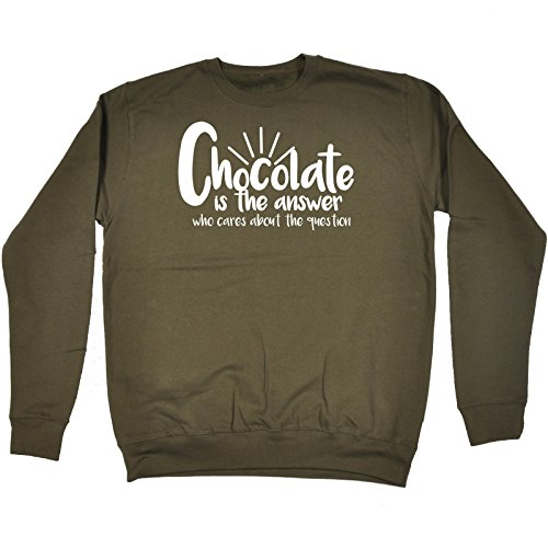 123t Chocolate Is Always The Answer Sweet Candy Comedy Bar SWEATSHIRT