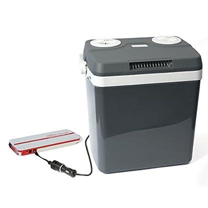 Dino KRAFTPAKET 131001 Kühlbox 12V 230V (WÄRMT & KÜHLT) HÖHE: 44cm GRÖSSE: 32-Liter (28L netto) Elektrische Kühlbox für Auto Boot Camping, A++ mit ECO-Modus 5