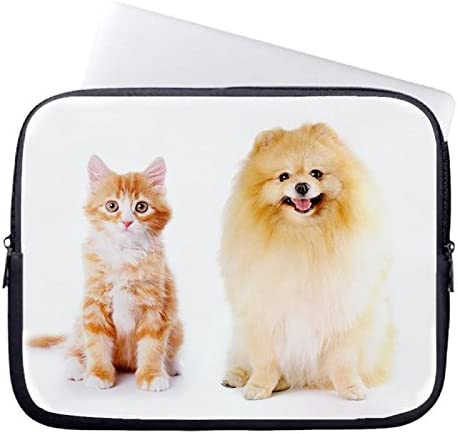Laptop Sleeve case cover 13//13.3 Inch,Notebook//MacBook Pro//MacBook Air Laptop Lovely Cat And Dog Pattern DW-464 Laptop Sleeve Cover