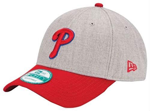 New Era MLB Philadelphia Phillies The League Heather 9Forty Adjustable Cap, One Size, Heather -