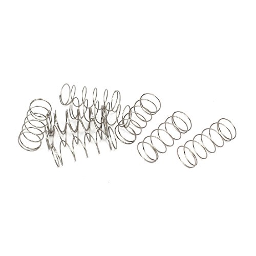 uxcell 0.5mmx12mmx30mm 304 Stainless Steel Compression Springs 10pcs