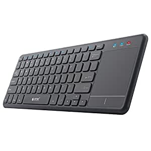 esynic 2 4g wireless touch keyboard usb touchpad media keyboard with built in large. Black Bedroom Furniture Sets. Home Design Ideas