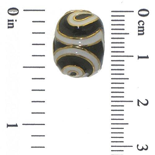 GIACINTA or clip blanc noir boucles d'oreilles