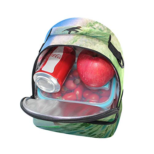 para Bolso pícnic ajustable correa almuerzo con de doble wpqnprgY
