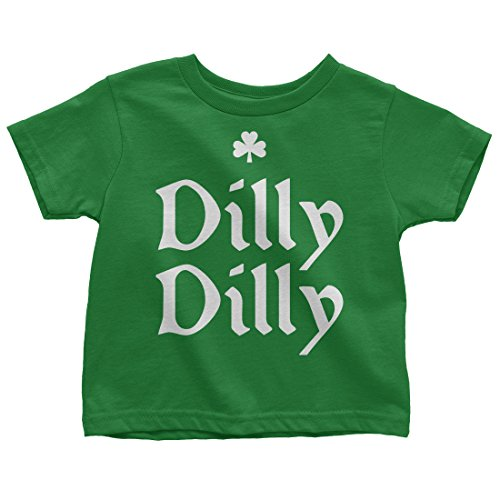Mixtbrand Kids Dilly Dilly ST. Patrick's Day Toddler T-Shirt 3T Kelly