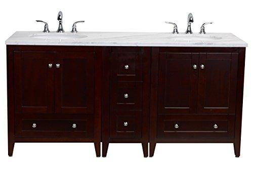 """Eviva EVVN07-30-12-30TK-MRB Lime 72"""" Double Sink Bathroom..."""