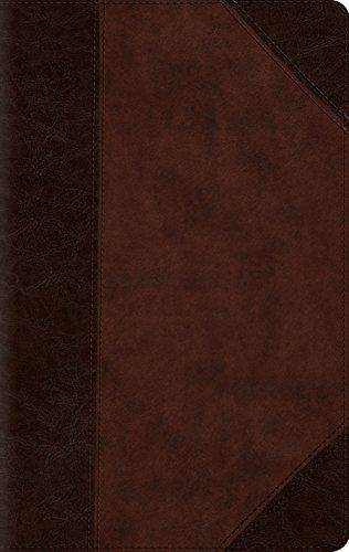 ESV Large Print Compact Bible (TruTone, Brown/Walnut, Portfolio Design) by Crossway Books