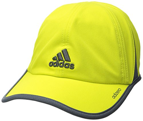 adidas Men's Adizero II Cap, Shock Slime/Deepest Space Grey, One Size