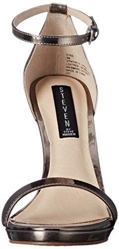 Steven by Steve Madden Rykie vestido sandalias de la mujer Pewter Foil
