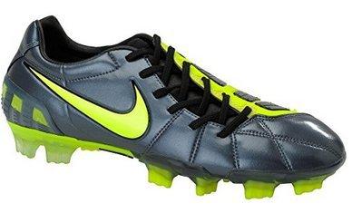 Nike Total90 Laser III FG Soccer Cleats (7, Metallic Blue Dusk/Volt/Black) (Blue And Green Nike Indoor Soccer Shoes)