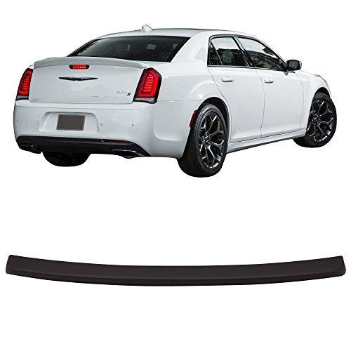 Trunk Spoiler Fits 2015-2018 Chrysler 300 | Matte Black ABS Added On Rear Lip Wing Bodykits by IKON MOTORSPORTS | 2016 2017
