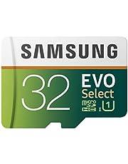 Samsung 32GB 95MB/s (U1) MicroSDXC EVO Select Memory Card with Full-Size Adapter (MB-ME32GA/AM)