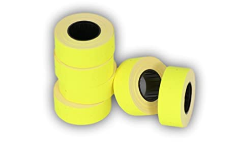 Rotoli Di Carta Colorata : Rotoli yelow etichette di carta colorata mm adesivo