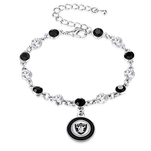 Pro Specialties Group NFL Oakland Raiders Two Tone Crystal Bracelet - Bracelet Radiant Set