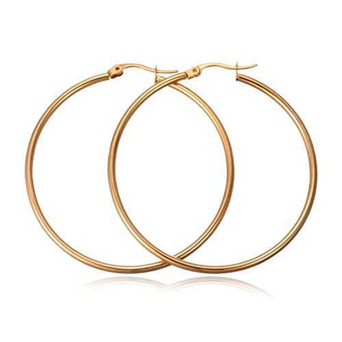 NYKKOLA Fashion Classic Earrings Hoops, 925 Silver Plated Teardrop Big Hoop Earrings Jewelery for Womens Girls Sensitive Ear