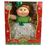 2017 Holiday Edition Cabbage Patch Doll Strawberry Blonde, White and Green Dress