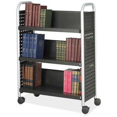 (Single-Sided Three Shelf Book Cart)