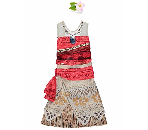 New Disney George Moana Kids Girls Fancy Dress Outfit Costume [3-4] (Fancy Dress Costume)