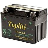 Toplite 台湾ユアサ YTX4L-BS バイク用耐震バッテリー AGM シールド型 液入り充電済み YT4L-BS高性能版 台湾YUASA 第2ブランド