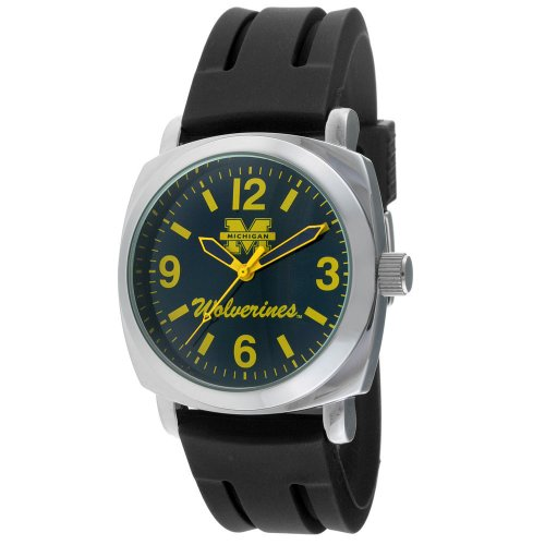 Viva Time Men's 1583MICH-2 Michigan Wolverines Officially Licensed NCAA Rubber Strap Watch