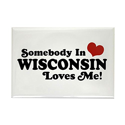 CafePress - Somebody In Wisconsin Loves Me - Rectangle Magnet, 2