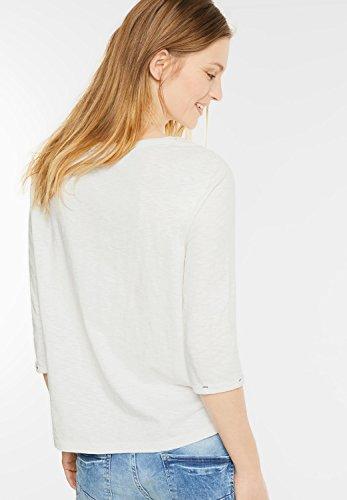 CECIL Damen Shirt mit floraler Stickerei pure off white XL: Amazon.de:  Bekleidung
