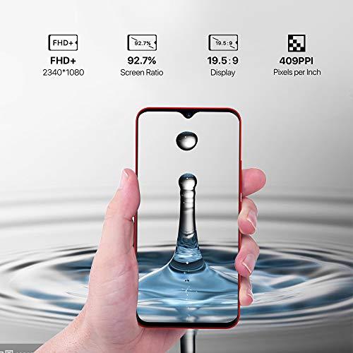 "41ScvsCqo5L - UMIDIGI F1 Factory Unlocked Phone Android 9.0 6.3"" FHD+ 128GB ROM 4GB RAM Helio P60 5150mAh Big Battery 18W Fast Charge Smartphone NFC 16MP+8MP Phone(Red)"