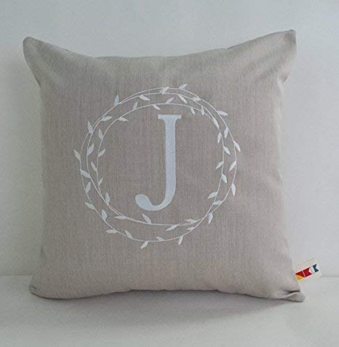 Amazon Sunbrella Monogrammed Initial Pillow Cover Classy Initial Pillow Covers
