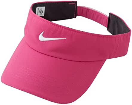 f3109026b47 Amazon.com   Nike Golf Women s Tech Visor Pink Force White One Size Fits All    Clothing