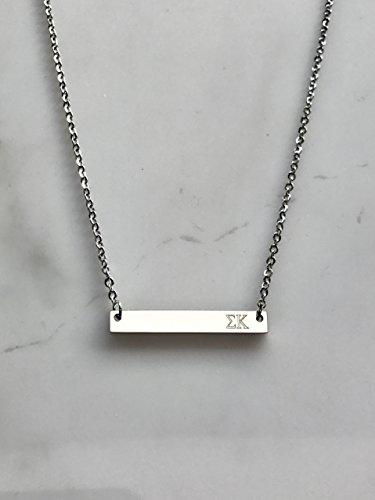 - Sigma Kappa Sorority Necklace Greek Life Bid Night Gift Big Little Beta Gamma Alpha Delta Sigma