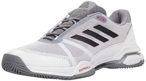 Adidas Court Sport Jacket - adidas Performance Men's Barricade Club Tennis Shoe, White/Black/Grey, 13.5 M US