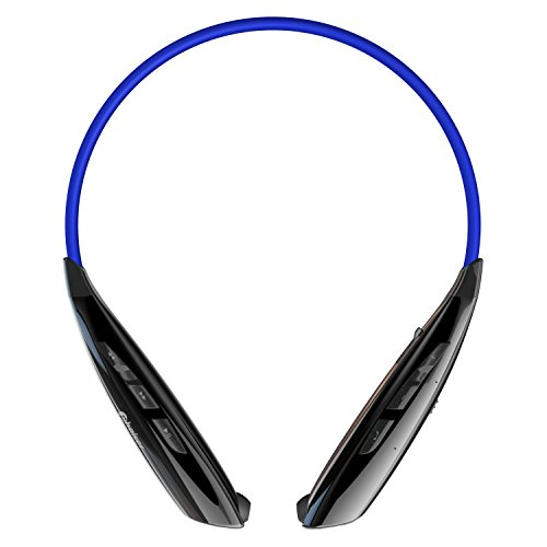 Phaiser BHS-950 Bluetooth Headphones Headset Sport Earphones with Mic - Wireless Earbuds for Running, Blue-Black
