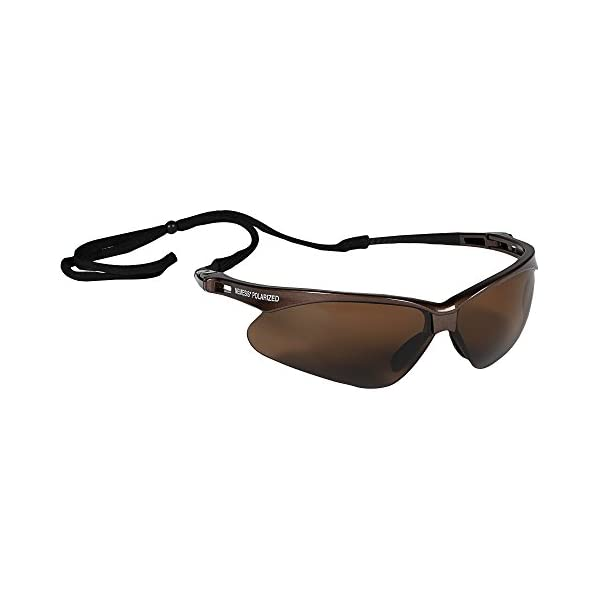 Jackson Safety V30 Nemesis Polarized Safety Glasses (28635), Polarized Smoke Lenses, Gunmetal Frame. Premium Pack 1