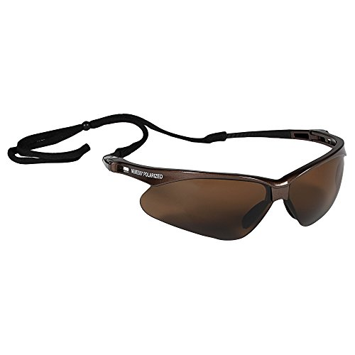 Jackson Safety V30 Nemesis Polarized Safety Glasses (28637), Polarized Brown Lenses, Brown Frame