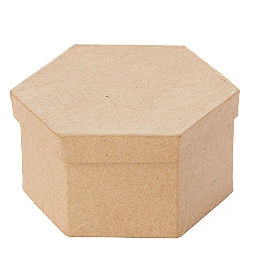 Factory Direct Craft Unfinished Round Graduated Size Paper Mache Boxes with Lids for Crafting 5 Boxes