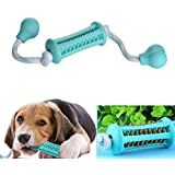 Chew Toys for Puppy,  Teeth Cleaning Dog Toys with Cotton Rope and Rubber, for Small, Medium Dogs Training -14.5inch-Green