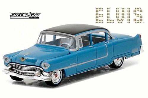 Greenlight 1955 Cadillac Fleetwood 60, Elvis Presley, Blue 44760 - 1/64 Scale Diecast Model Toy Car