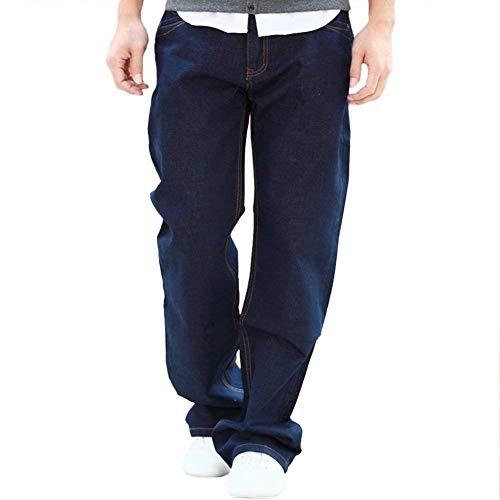 Gamba Da A Pantaloni Dritta Dritti Uomo Semplice Denim Maniche Lunghe Jeans Attillati Blau Stile Leggeri q5tqwXA