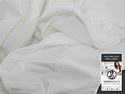 Minerva Crafts 68 algodón lámina con botón Giratorio Tela Blanca ...