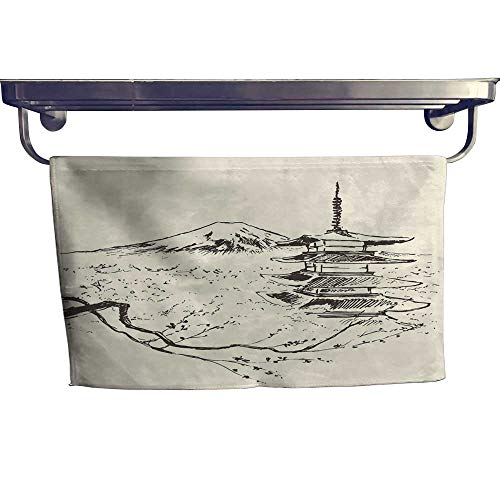 wels Japan Fuji Mountain Pagoda and Cherry Blossoms Towel W 12