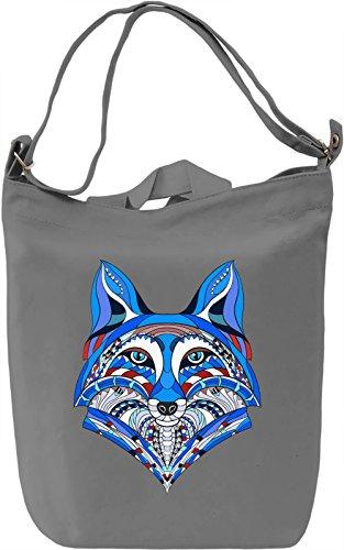 Blue Foxx Borsa Giornaliera Canvas Canvas Day Bag  100% Premium Cotton Canvas  DTG Printing 