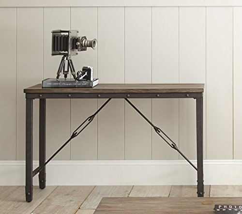 Steve Silver Jersey Industrial Console Table in Antique Tobacco