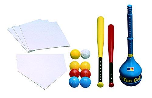 日本ティーボール協会公認品 ティーボールセット  *大人から小学生までプレーできます B01BL3DL82