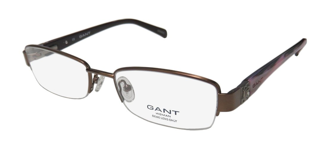 50e7c6992f1 Amazon.com  Gant Preble Womens Ladies Designer Half-rim Strass Spring  Hinges Classy Contemporary With Crystals Eyeglasses Eye Glasses (51-17-135