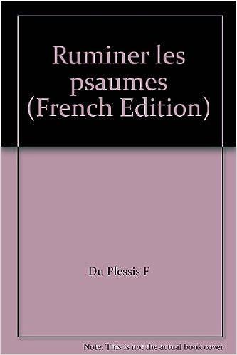 Livres gratuits en ligne Ruminer les Psaumes epub pdf